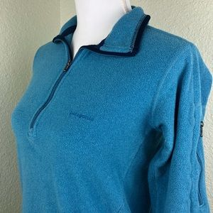 Patagonia Sweaters - Patagonia Fleece Pullover Front And Arm Zip Blue